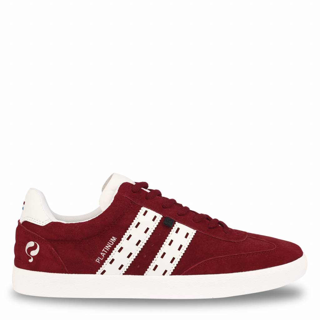 Heren Sneaker Platinum Cherry Red / White