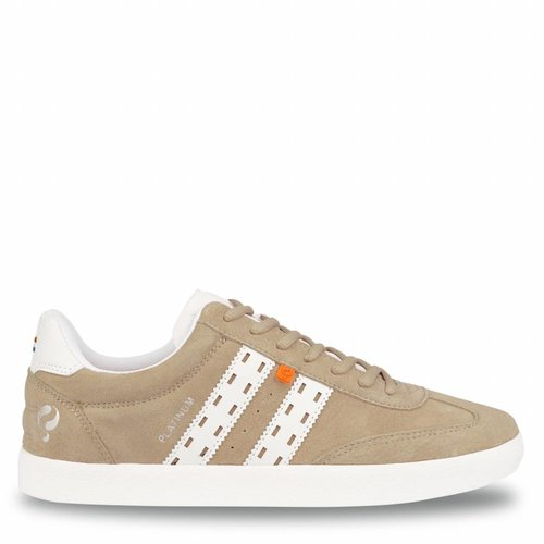 Heren Sneaker Platinum Soft Taupe / White