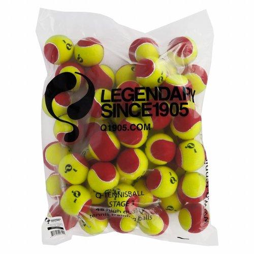 Q-Tennis Ball ST3 60pcs/bag Yellow-Red