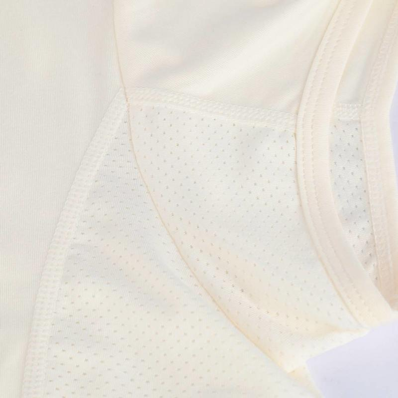 Women's Tee Brush mesh Q Snow White