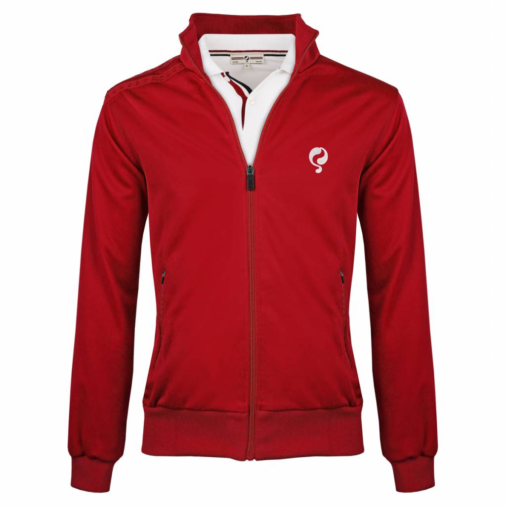 Heren Jacket Kelton Red White 5cm