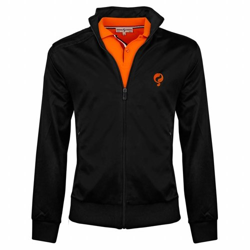 Heren Jacket Kelton Black Orange 5cm