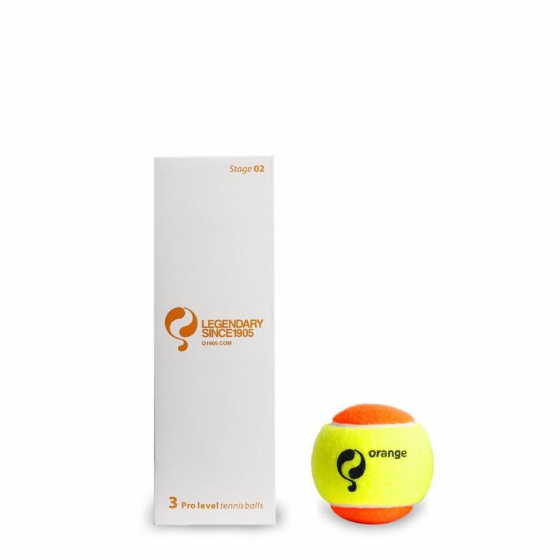 Q-Tennisbal ST2 3pcs/can Yellow-Orange