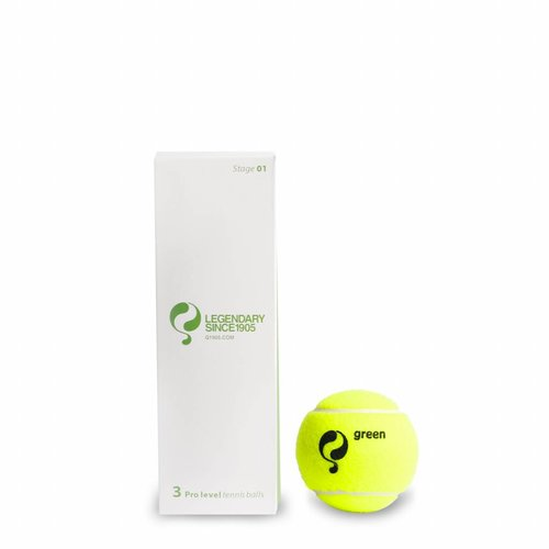 Q-Tennis Ball ST1 3pcs/can Yellow-Green Dot