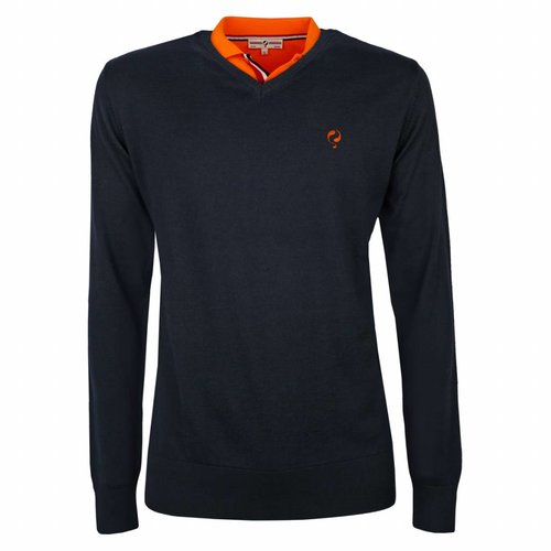 Heren Pullover V-neck Luton Deep Navy