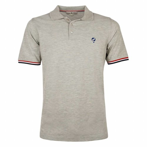 Heren Polo Bloemendaal Grey Melee - Skydiver / Silver