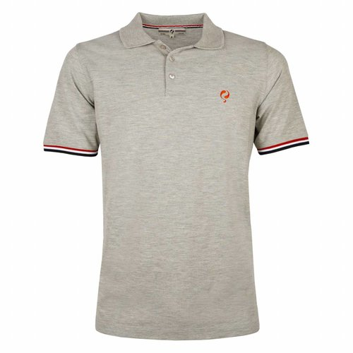 Men's Polo Shirt Bloemendaal Grey Melee - Orange / Silver