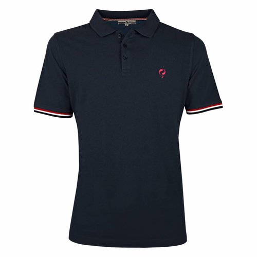 Men's Polo Shirt Bloemendaal Deep Navy - Lightning Pink / Deep Navy
