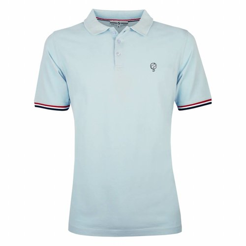 Heren Polo Bloemendaal Skyway Blue - Silver / Deep Navy