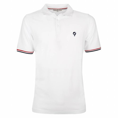 Heren Polo Bloemendaal White - Deep Navy