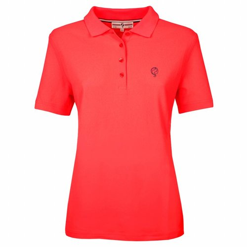 Women's Polo Square Fiery Coral