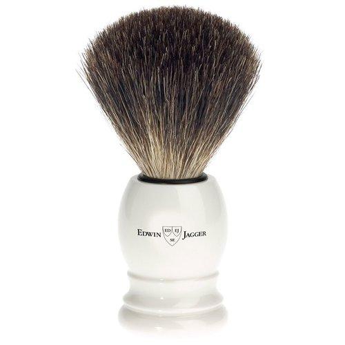 Edwin Jagger Scheerkwast Pure Badger Ivoor