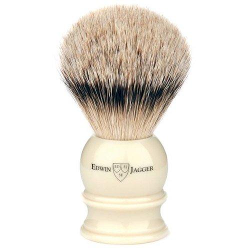 Edwin Jagger Scheerkwast Silvertip Ivoor