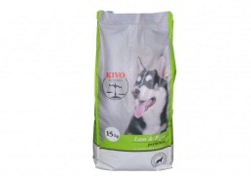 Kivo petfood natuurlijk hondenvoer Kivo lam en rijst  geexpandeerde brok