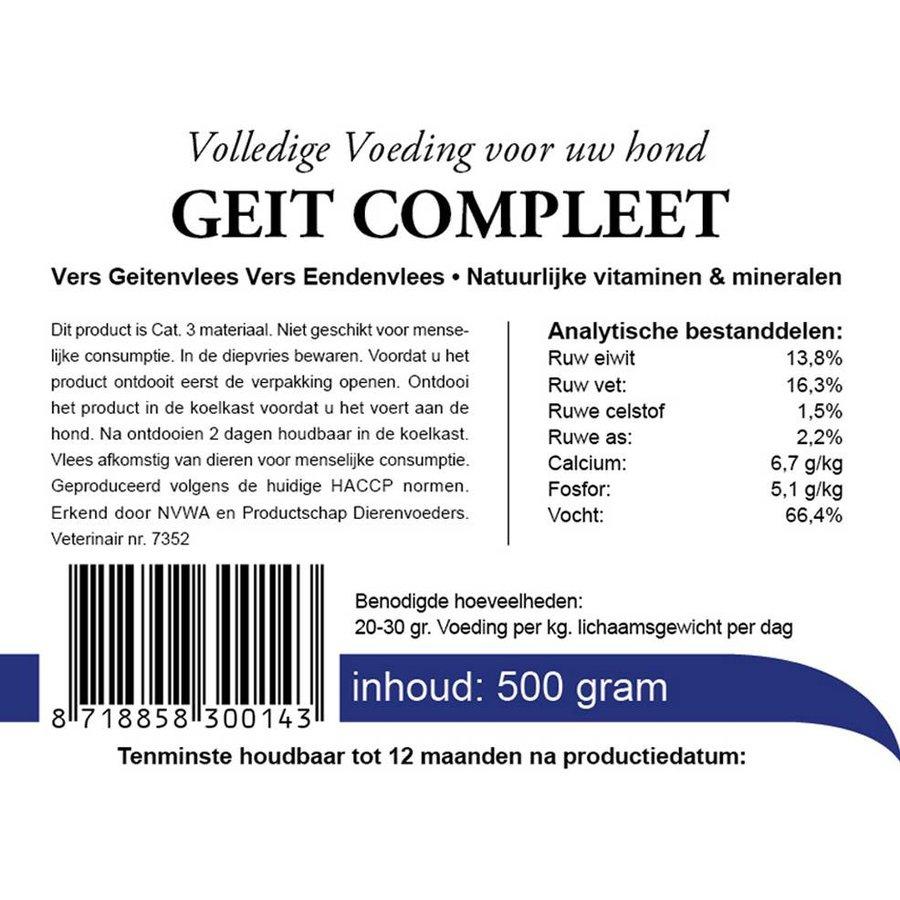 kivo geit compleet vers vlees 500 gram