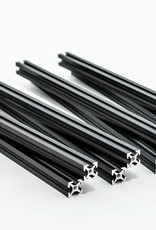 MakerBeam 8 pieces of 200mm black anodised MakerBeam