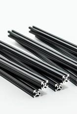 MakerBeam 8 pieces of 200mm black anodised MakerBeam