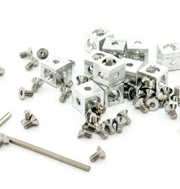 MakerBeam - 10x10mm aluminum profile Corner cubes (12p) clear for MakerBeam