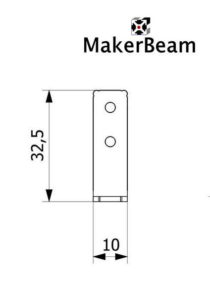 MakerBeam - 10x10mm aluminum profile 12 pieces of MakerBeam Corner brackets (MakerBeamXL and OpenBeam compatible)