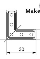 MakerBeam 12 pieces of MakerBeam Right angle brackets (MakerBeamXL and OpenBeam compatible)