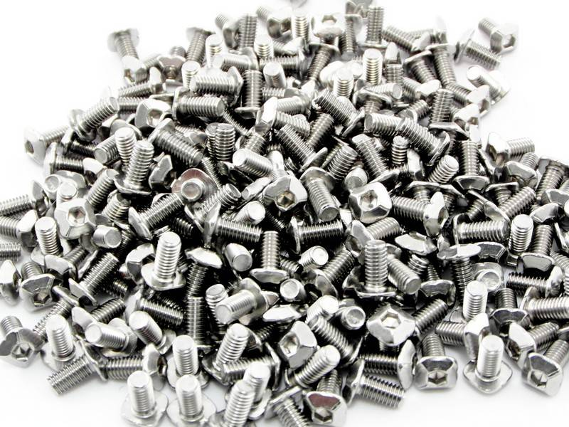 MakerBeam - 10x10mm aluminum profile 250 pieces, M3, 6mm, MakerBeam square headed bolts with hex hole