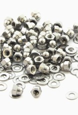MakerBeam 50 pieces, M3 cap nuts compatible with both MakerBeam and OpenBeam bolts
