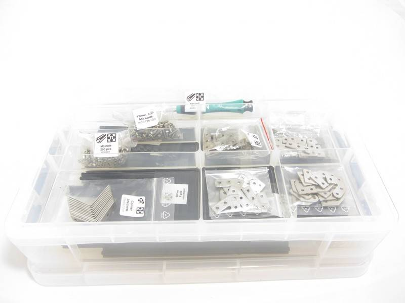 MakerBeam - 10x10mm aluminum profile 1 Storage box - multiple compartments (OpenBeam and MakerBeam compatible)