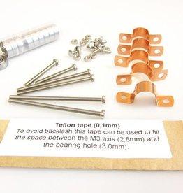 MakerBeam - 10x10mm aluminum profile Hinge bearings for MakerBeam (5p)