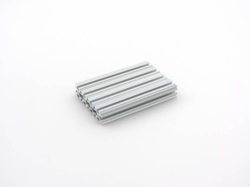 OpenBeam - 15x15mm aluminum profile 4 pieces of 90mm clear anodised OpenBeam