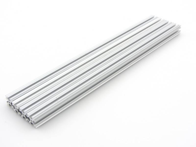OpenBeam - 15x15mm aluminum profile 4 pieces of 300mm clear anodised OpenBeam