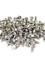 OpenBeam - 15x15mm aluminum profile 100 pieces, M3, 8mm, thread forming screws and grease syringe for OpenBeam