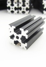 OpenBeam - 15x15mm aluminum profile 3 pieces of 600mm black anodised OpenBeam