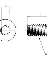 PCB Grip PCBGrip Pan Head Screw 7mm, 25 pieces,10021