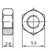 PCB Grip PCBGrip Nut M3, 25 pieces, 10022