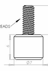 PCB Grip PCBGrip Thumb Screw M3x0,5, 25 pieces, 10024