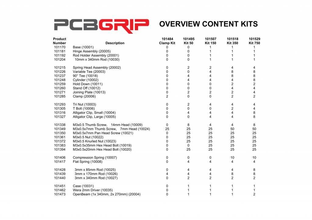 PCB Grip PCBGrip Clamp Kit, 30001