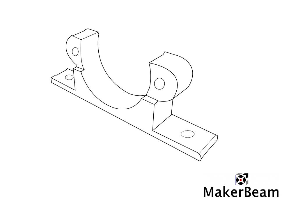 MakerBeam - 10x10mm aluminum profile 1 piece Micro stepper bracket for MakerBeam