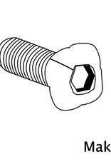 MakerBeam - 10x10mm aluminum profile 100 pieces, M3, 12mm, MakerBeam square headed bolts with hex hole