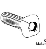 MakerBeam 25 pieces, M3, 25mm, MakerBeam square headed bolts with hex hole