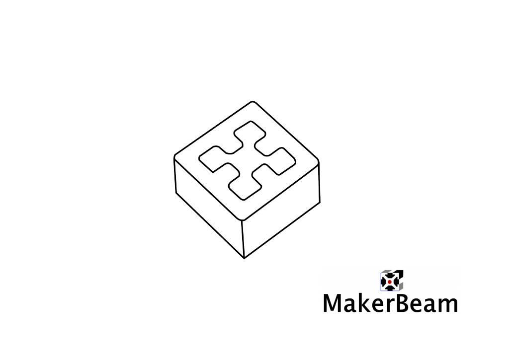 MakerBeam - 10x10mm aluminum profile 4 pieces of black 3D Printed End Caps for MakerBeam