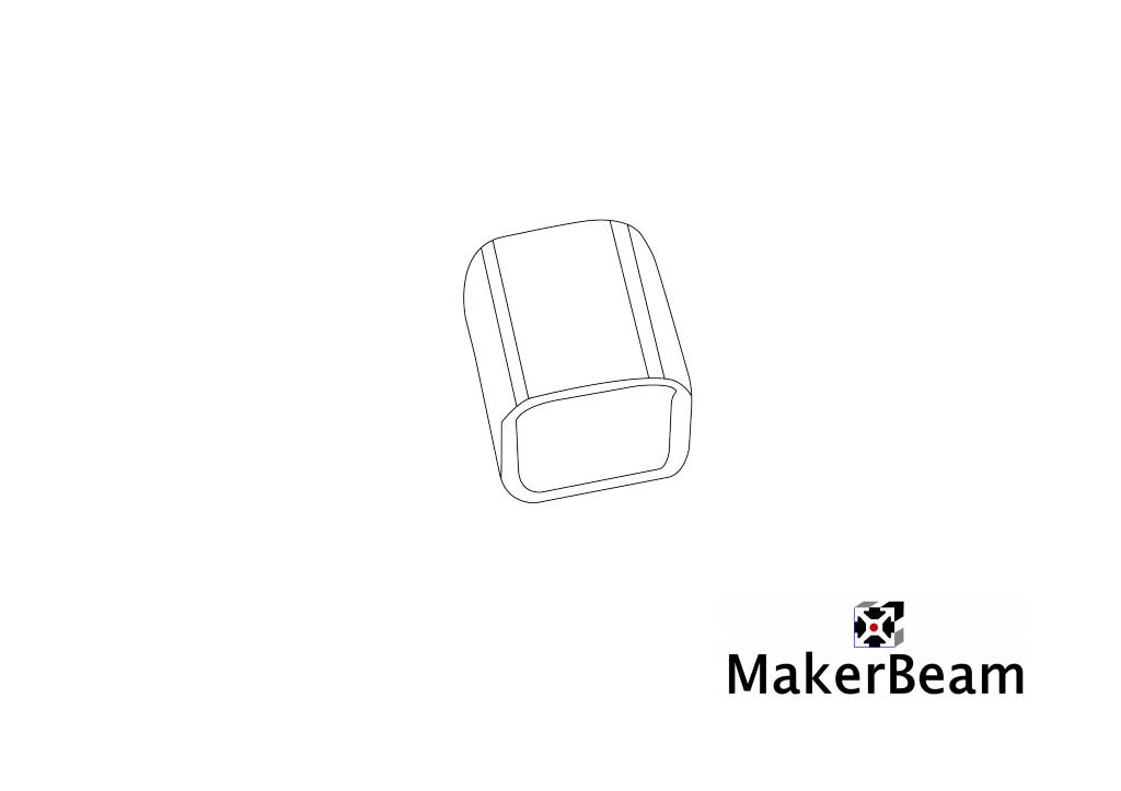 MakerBeam 4 pieces of black Vinyl End Caps for MakerBeam