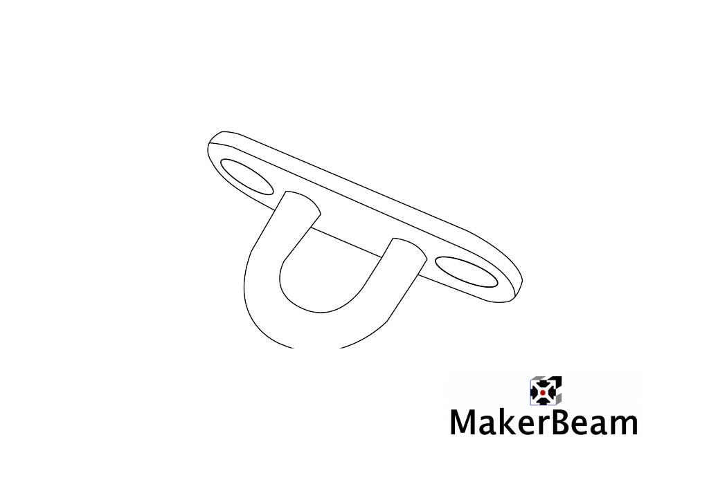 MakerBeam 1 Eye plate