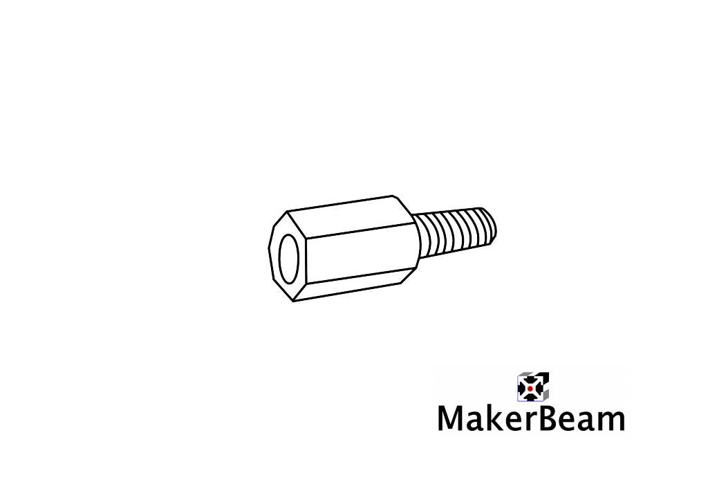 MakerBeam 4 pieces of standoffs or spacers