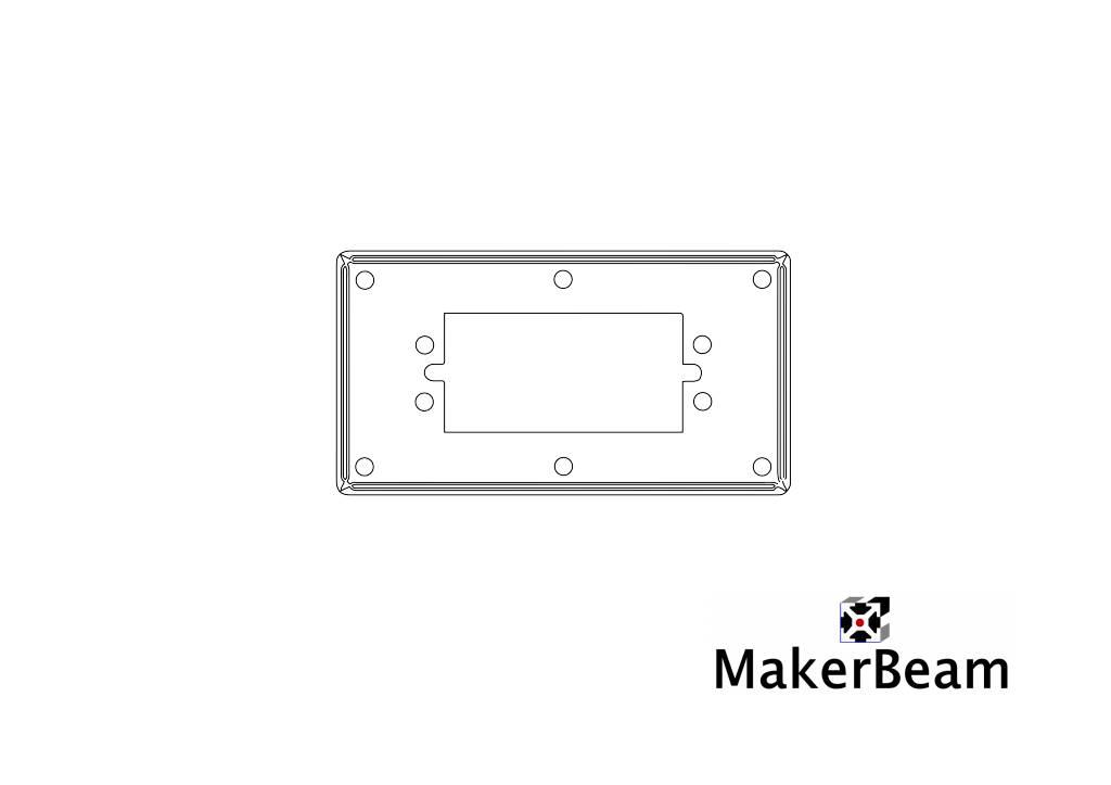 MakerBeam 1 piece Servo bracket for MakerBeam