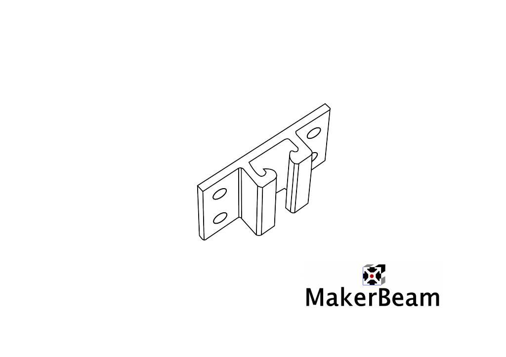 MakerBeam 4 pieces of MakerBeam vertical guidance brackets