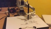 Robot drawing portrait. Arduino&processing&opencv