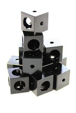 MakerBeamXL 12 pieces Corner cubes black (15mmx15mmx15mm)
