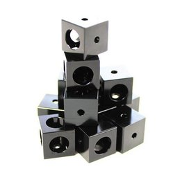 OpenBeam Corner cubes black (12p) for OpenBeam