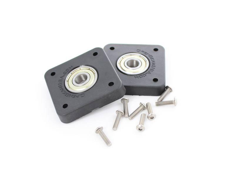 OpenBeam - 15x15mm aluminum profile 2 pieces 608 Bearing to NEMA17 adapter (2p) for OpenBeam