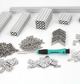 MakerBeam - 10x10mm aluminum profile MakerBeam Regular Starter Kit Clear